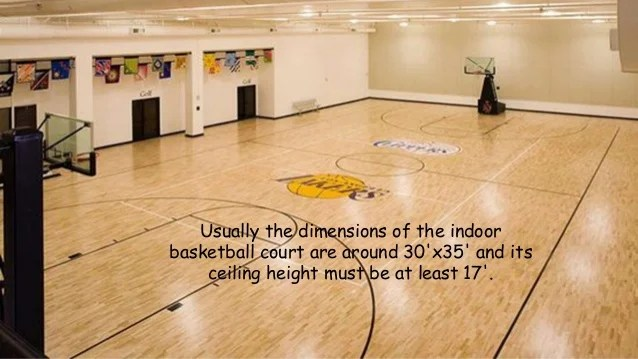 Indoor basketball court ceiling height for Build indoor basketball court