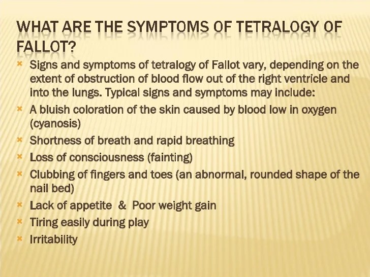 Image result for clinical manifestations of tetralogy of fallot