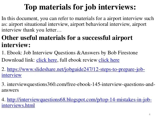 80 Airport Interview Questions With Answers