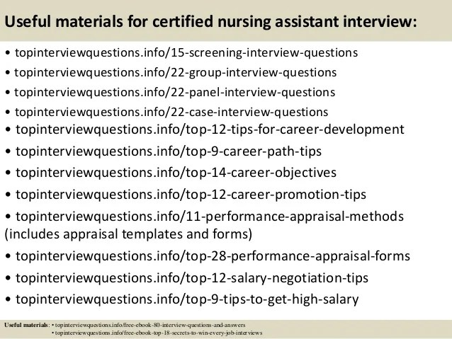 Top 10 Certified Nursing Assistant Interview Questions And Answers