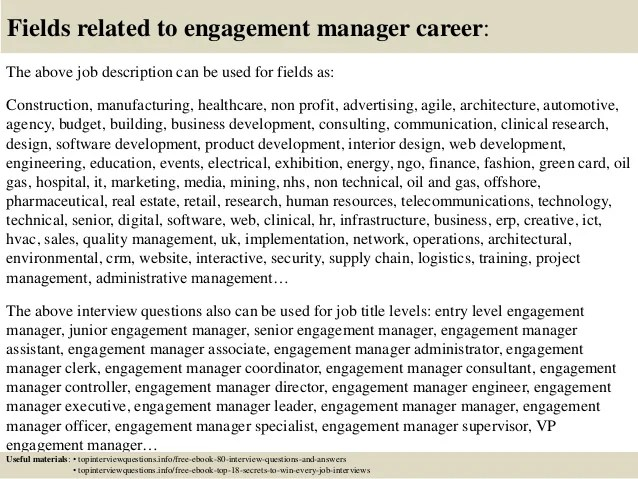 top 10 engagement manager interview questions and answers