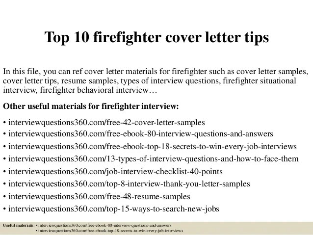 firefighter cover letter examples for emergency resume sample anton