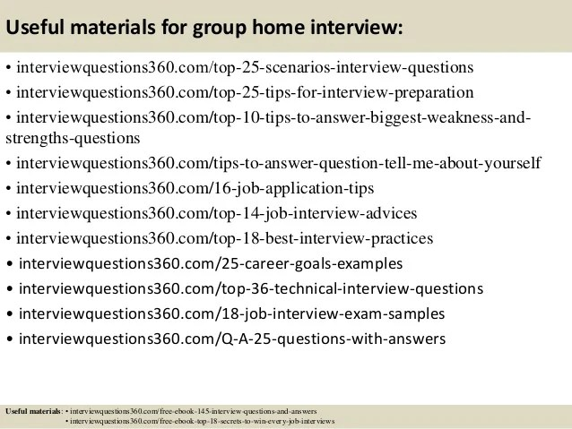 Group Home Worker Sample Resume