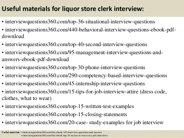 top 10 liquor store clerk interview questions and answers