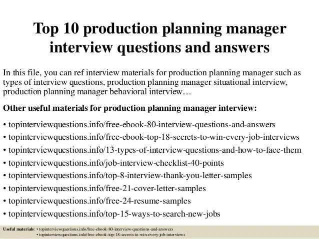 resume production planner scheduler planner resume skill