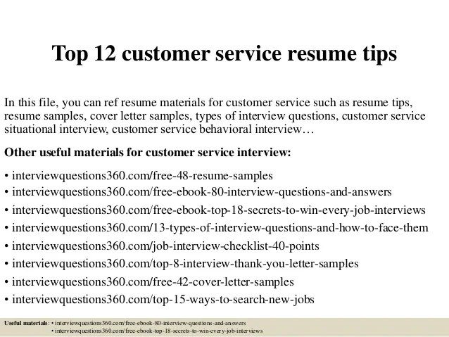 top 12 customer service tipsin this file you can ref
