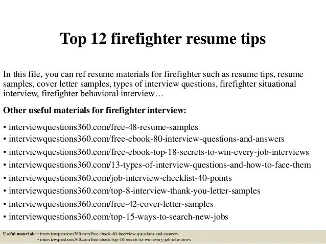 firefighter resume template fire firefighter cover letters