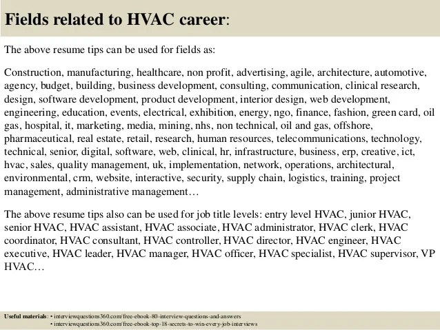 great hvac jobs great hvac resume hvac resume objective examples