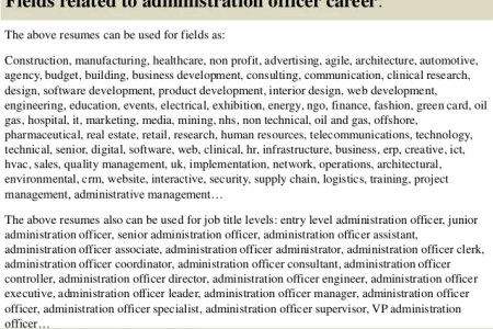 administrative officer cover letter » Full HD MAPS Locations ...
