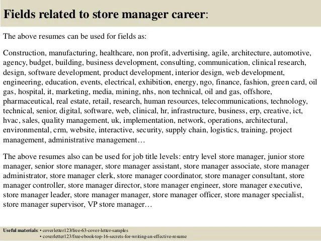 Grocery Store Manager Cover Letter - Free Sample Letters