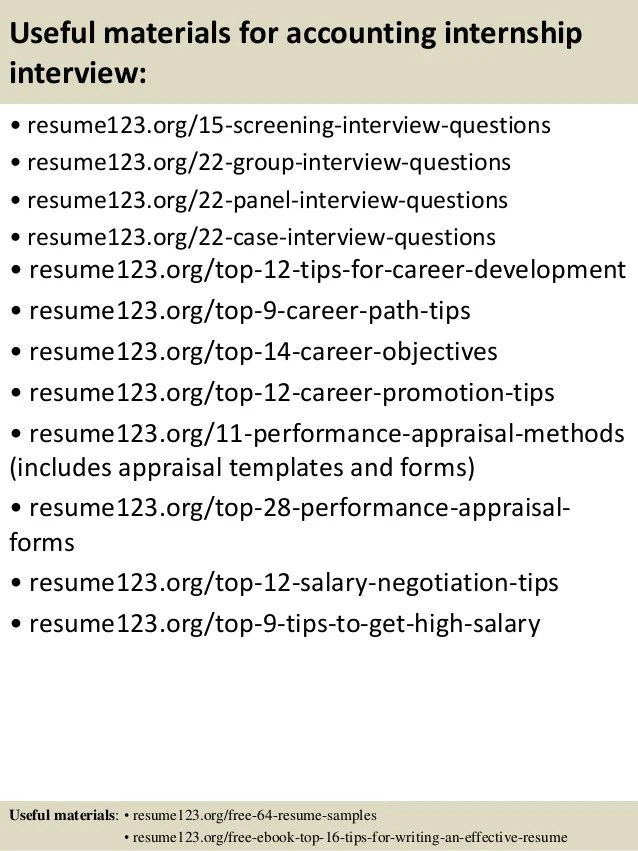 Accounting Intern Resume accounting intern resume samples Top 8 Accounting Internship Resume Samples