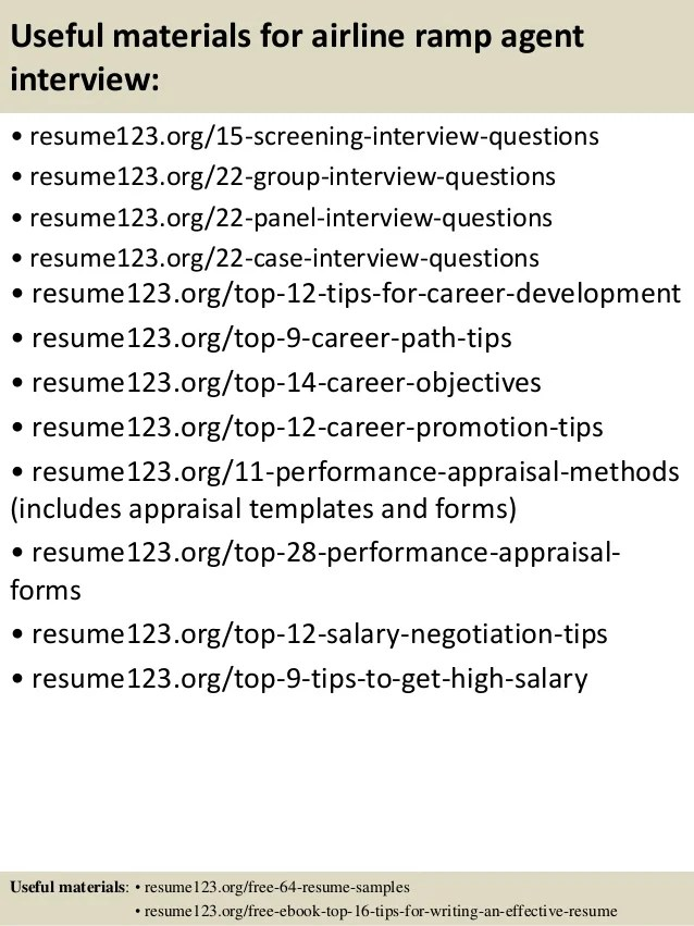 Top 8 Airline Ramp Agent Resume Samples In This File You Can Ref