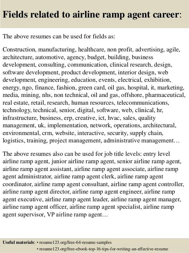 Passenger service agent resume sample