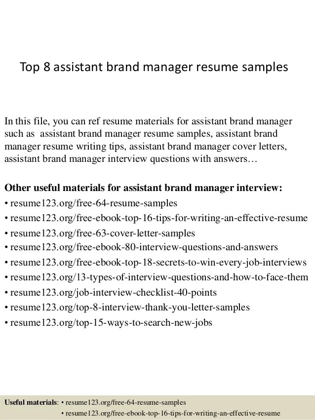 Resume Brand Manager. Manager Resume Samples Visualcv Product