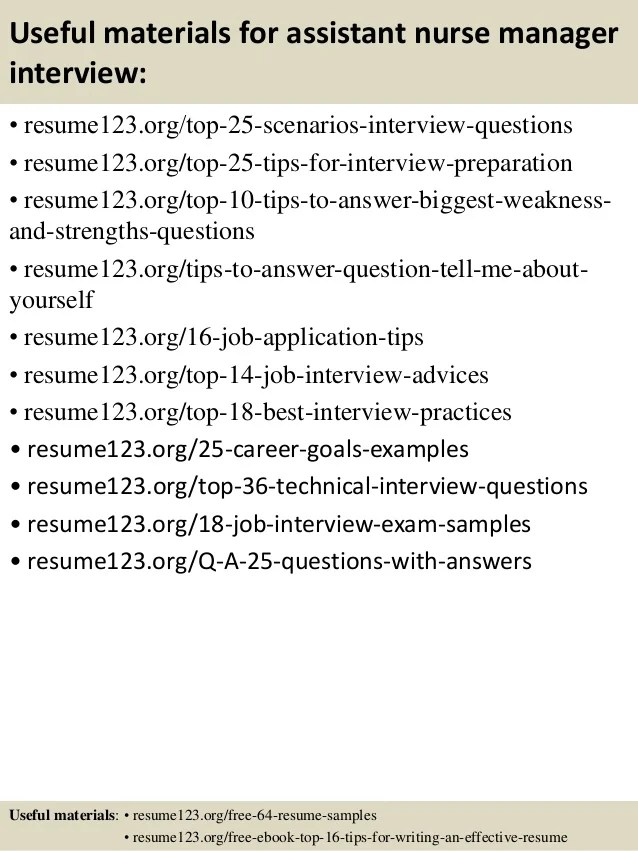 Nurse Manager Resume Sample. Examples Resumeorg. Top 8 Assistant