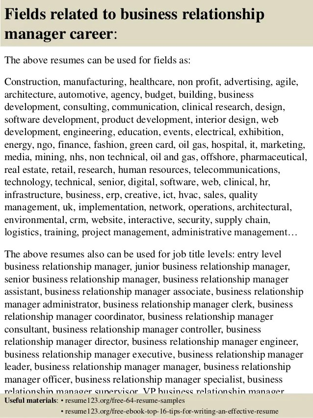 business manager resume sample
