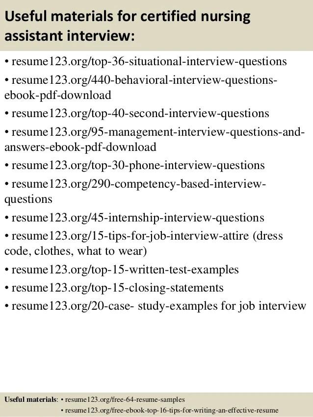 free cna resume