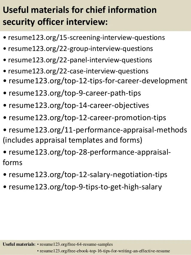 top 8 chief information security officer resume samples