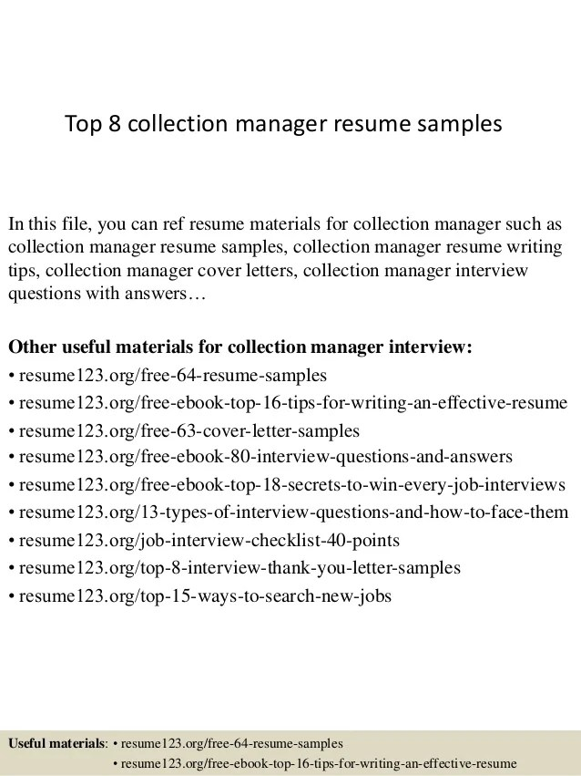 resume collection manager aafi