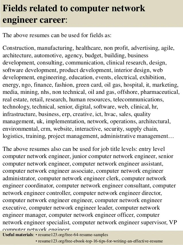 Computer Technician Resume Job Resume Sample Field Tech Resume Resume  Examples Resume Engineer Samples Mechanical Engineer  Network Engineer Sample Resume