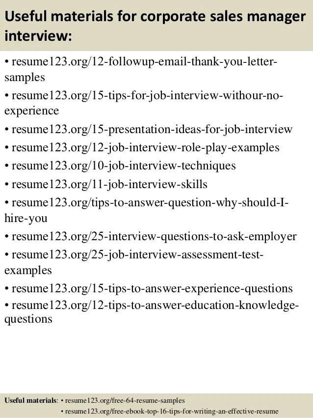 Corporate Sales Resume Examples. Vice President Sales Sample