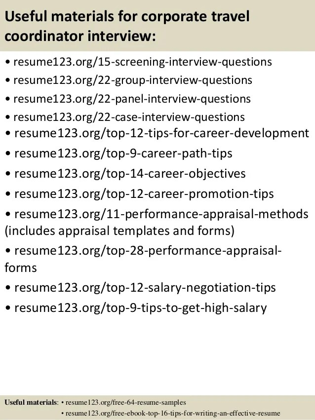 Travel Coordinator Resume Categories E Mails And Memos From The
