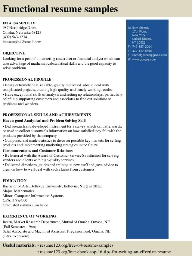 attorney resume samples functional resume template
