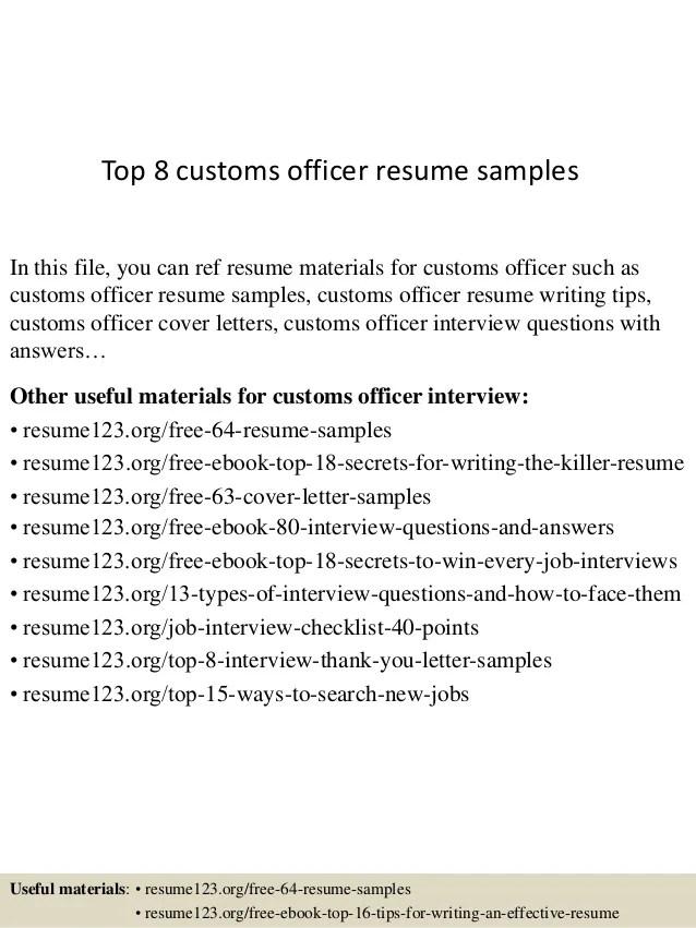 customs brokers resume