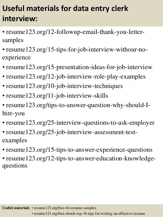Sample Resume Data Entry Clerk. Clerk Resume Cover Letter Data