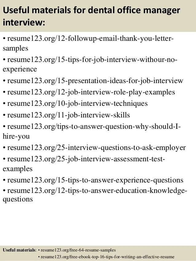Dental Office Resume. Sample Resume Office Resume Sle Dental Front