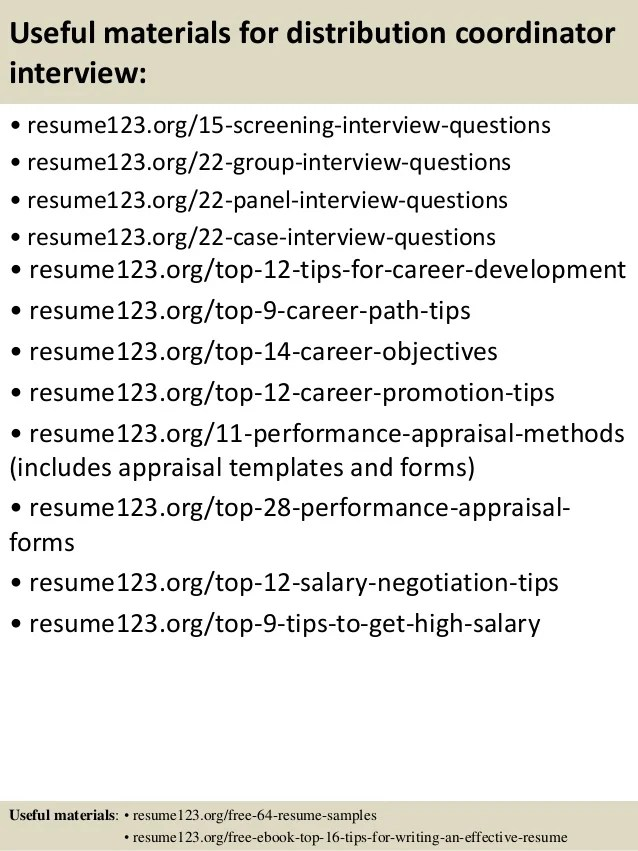 Finance Resume Blaster resume distribution top 8 distribution coordinator resume samples