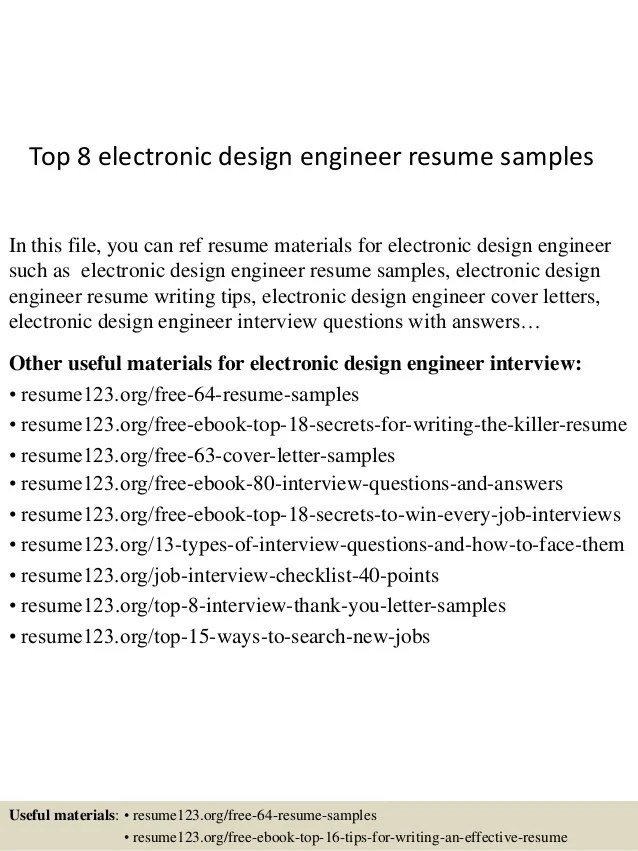 technical resume examples resume mechanical engineer resume format top 8 design samplesin this file you can electronic engineer resume sample