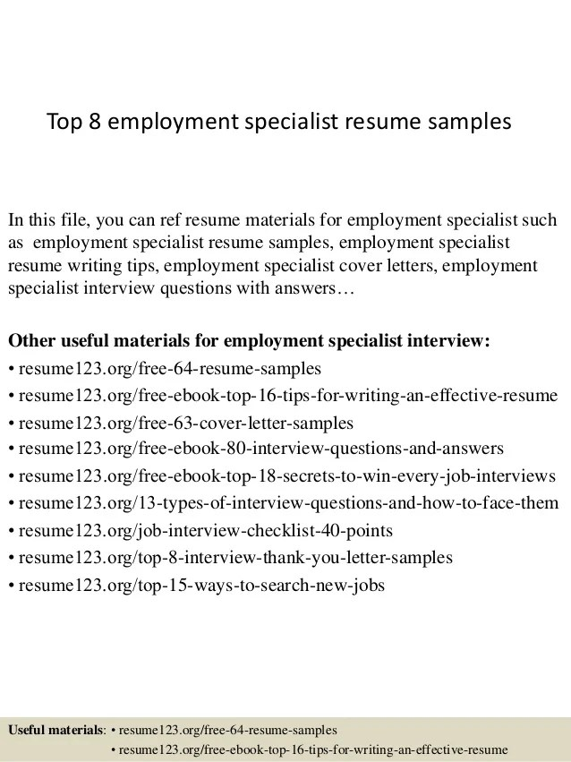 Sample Employment Resume. Writing Services Learn How We Can Create