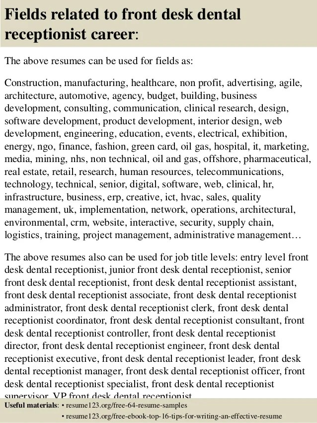 Medical Receptionist Interview Questions Sample Resume Of A Front Desk