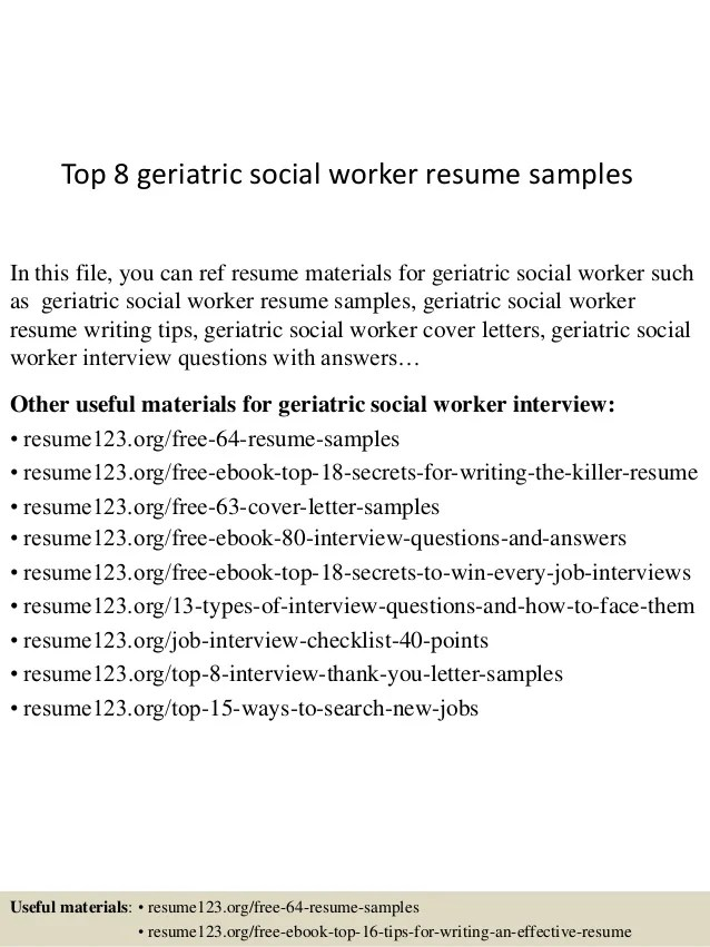 Social Workers Resume Examples. Summary Resourceful Social Worker