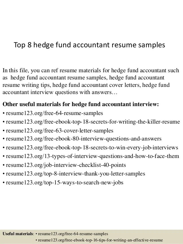 Fund Accountant Resume Cover Letter. for accountants cv ...