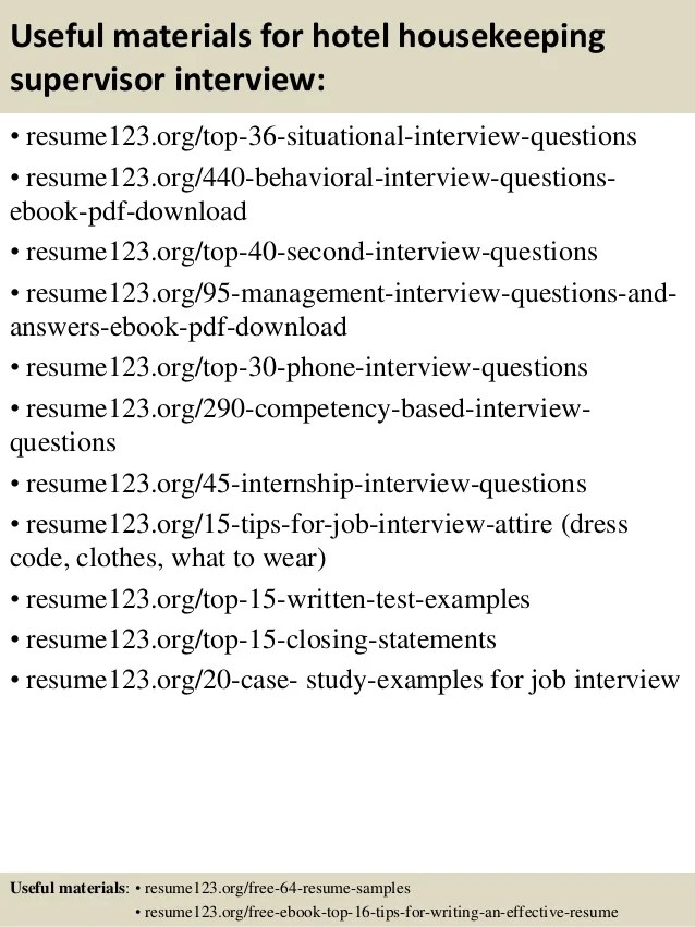 useful materials for hotel interview resume123