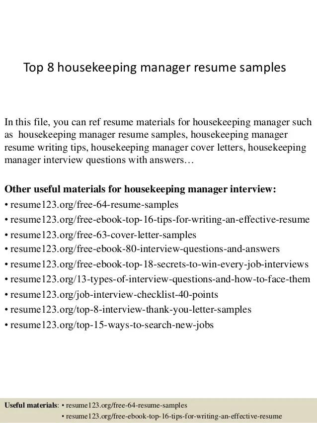 Housekeeper Resume. Entry Level Hotel Housekeeper Resume Sample