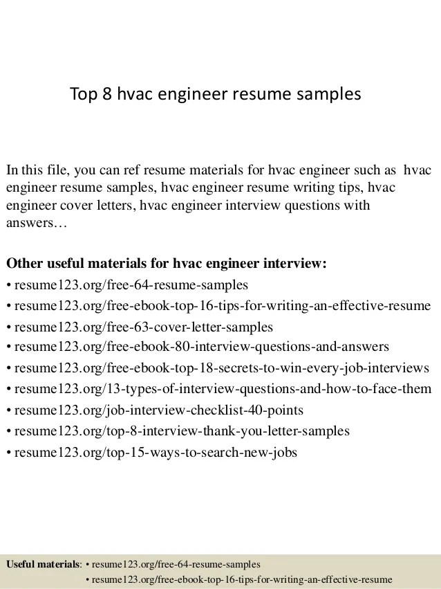 hvac resume sample hvac technician resume sample hvac technician