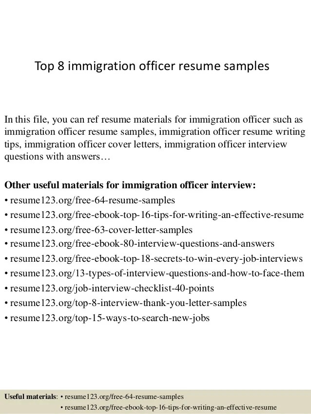 immigration officer samplesin this file you can ref