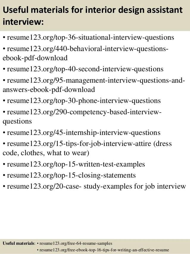 Interior Design Resume Samples. Sample Resume For Junior Interior