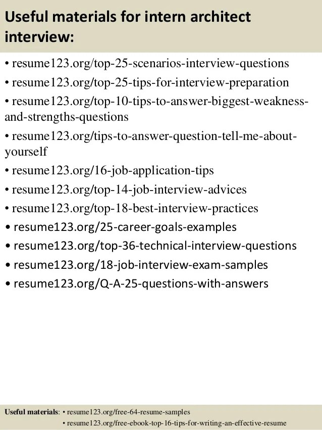 top 8 intern architect resume samples