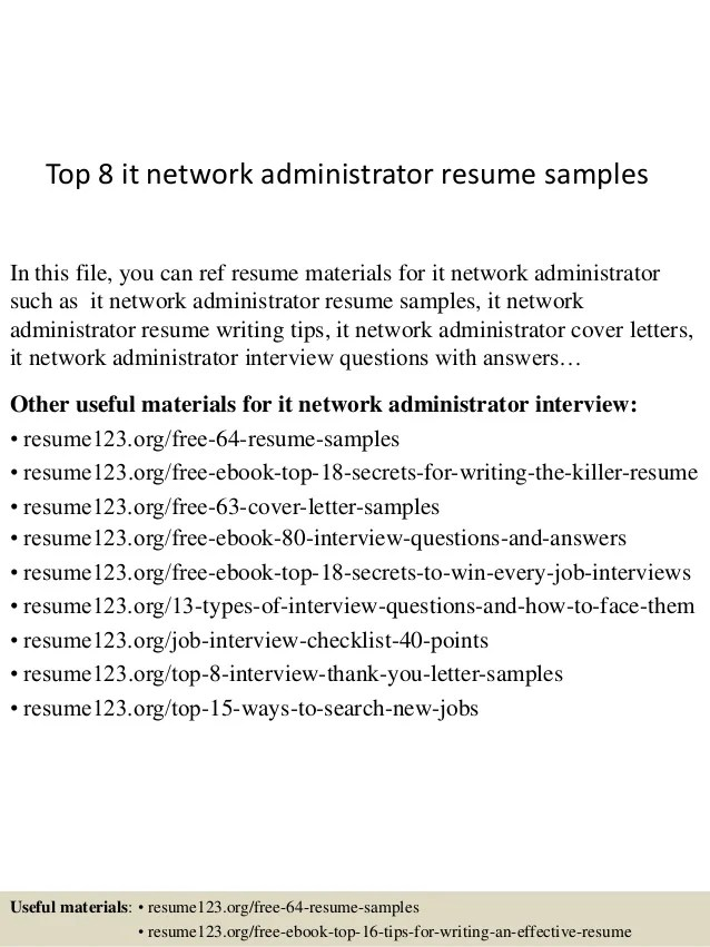 Administrator Cv Sample IT Administrator CV Template CV Templat     Network Admin Resume  free download benefits administrator cover       network administrator resume