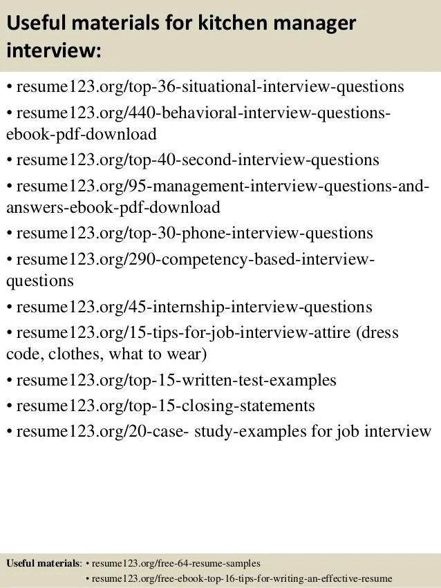 Resume Resume Sample Kitchen Manager kitchen manager resume examples template 596842 resume