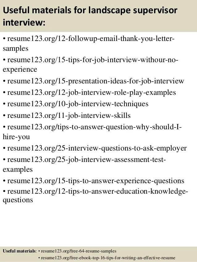 Resume sample landscaper