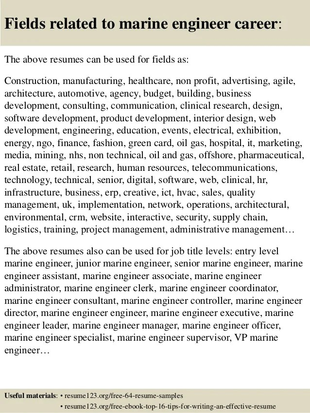 top 8 marine resume samples