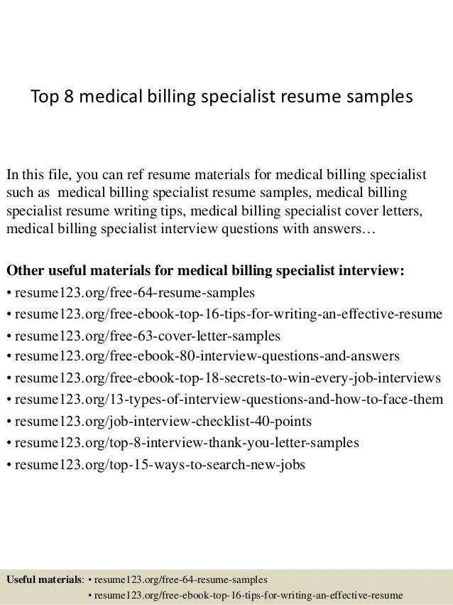 Medical Billing Resume Templates. The Objective Resume For Medical