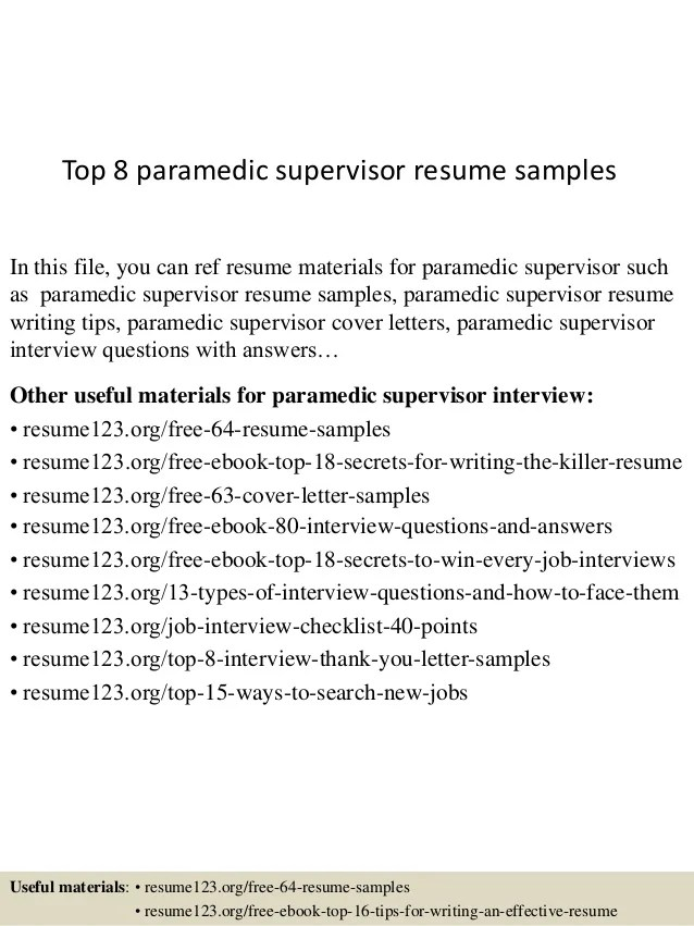 Paramedic Resume Sample Firefighter Example Student