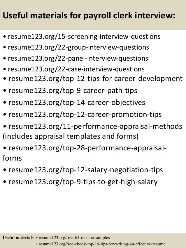 Resume Examples And Accounting Sample Payroll