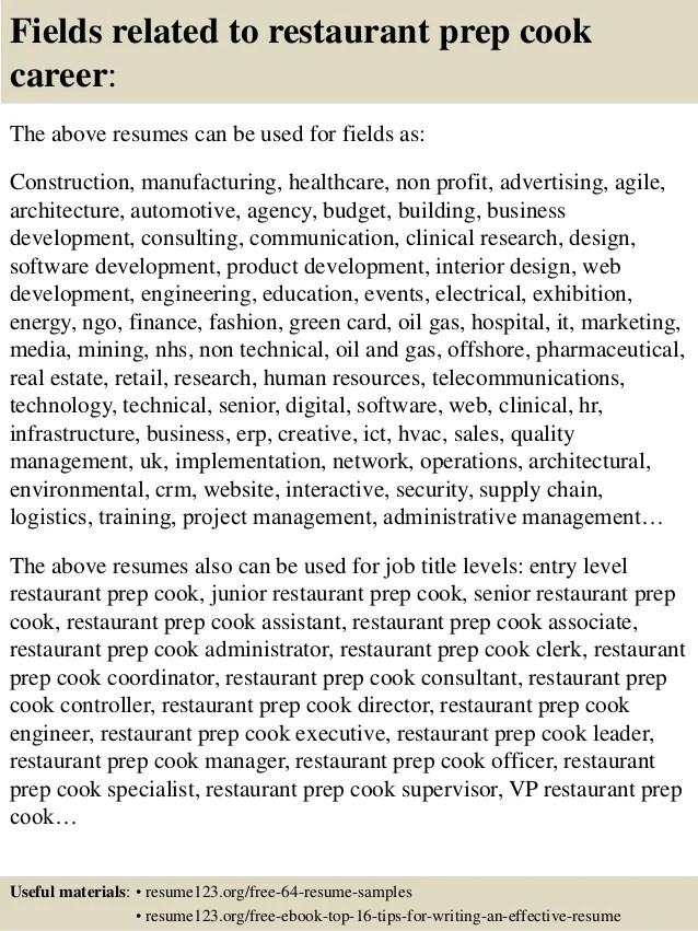 Chef Resume Examples ResumeBaking